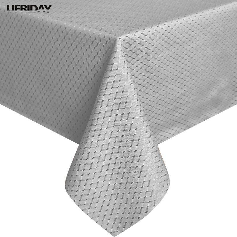 UFRIDAY Novi jednobojni stolnjak 100% poliester vodootporan stolni tkanina srebro toalha de mesa stolnjake trg trajne tkanine