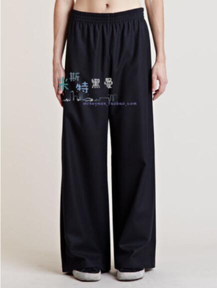 27-44 ! 2017 Men's women clothing New fashion straight pants leisure loose trousers fat leg pants plus size singer costumes