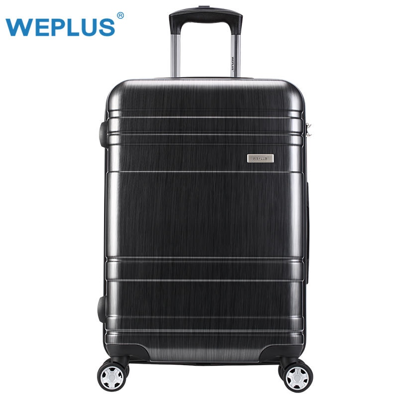 24 inch Black trolley suitcase luggage  PC Rolling Luggage with Lock Spinner Lightweight High Strength Suitcases Travel Luggage