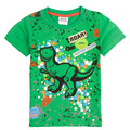 Novatx new green Baby Boys T-shirt with Short Sleeve Nova Kids Children Clothing embroider cool dinosaur Boys Cotton T-shirt