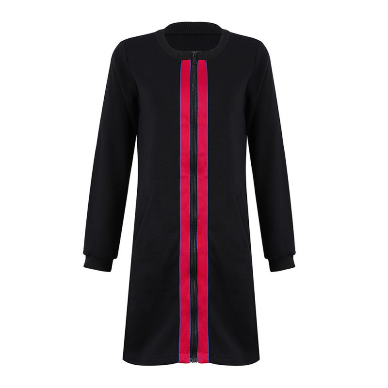 Long Hoodie Women Hooded   Jacket   Autumn Winter Coat Side Zipper Ladies   Basic     Jackets   2018 New Long Sleeve Coats And   Jackets   Women