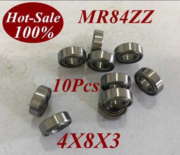 10pcs Low Noisy Mr84zz Mr84z Mr84-zz 4x8x3 4*8*3 Deep Groove Ball Bearing Micro Miniature Small Bearing Motor Bearing Invigorating Blood Circulation And Stopping Pains Toiletry Kits