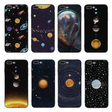 Yinuoda Glossy Space Planet Stars Solar System Black silicone Cover case For iPhone X XS XR XSMax 5 SE 8 8plus 7 7plus 6s 6sPlus(China)