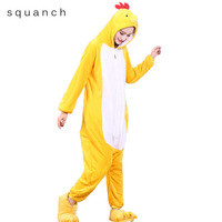 Adult Onesie Chicken Pajamas Animals Chick Loose Long Sleeve Jumpsuit Female Unisex Funny Cute Party Suit