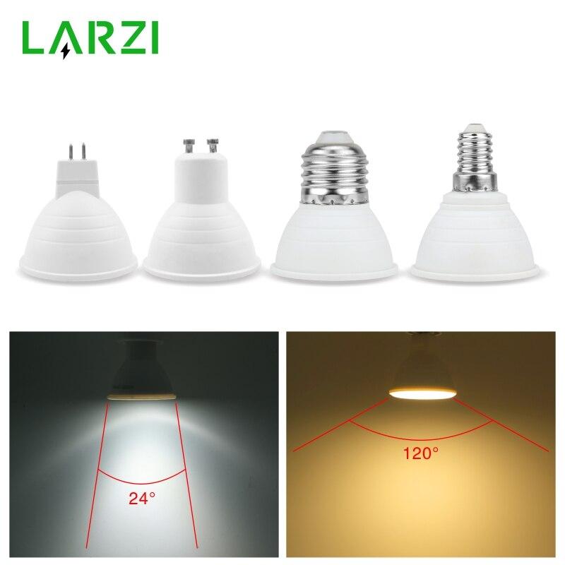 لمبة LED E27 E14 MR16 GU10 GU5.3 Lampada Led 6 واط 220 فولت-240 فولت 24/120 درجة Bombillas LED مصباح الأضواء لامبارا LED بقعة ضوء