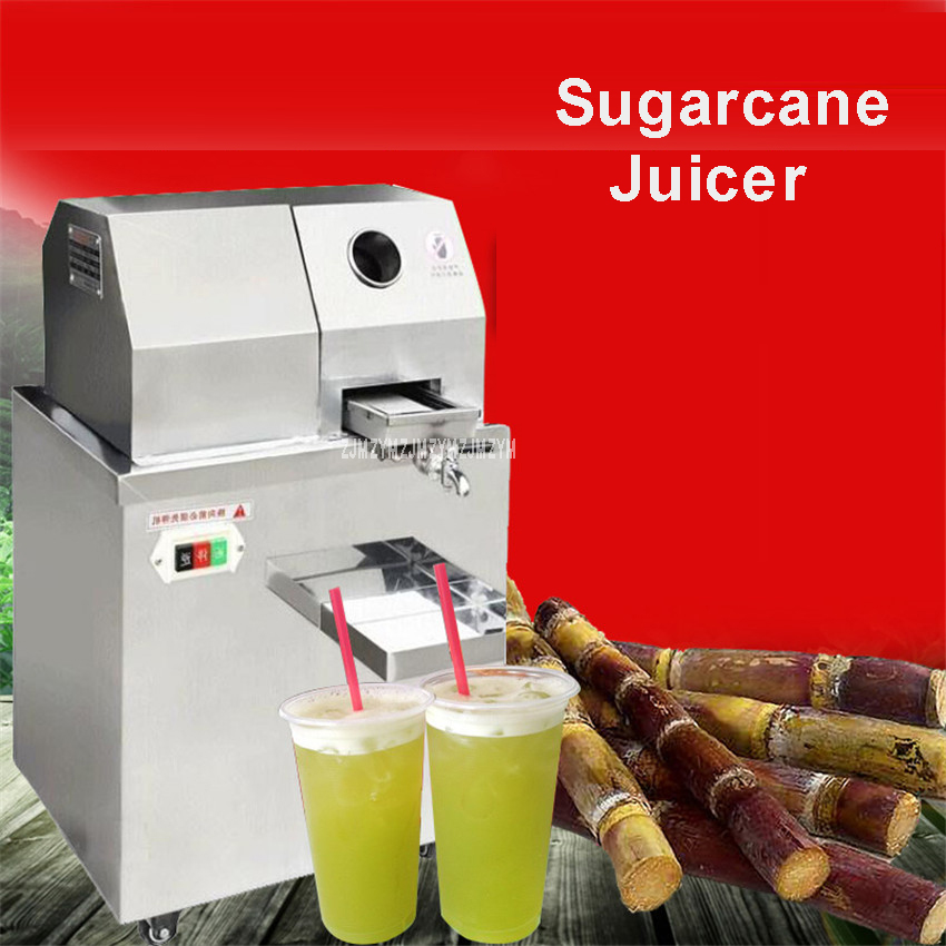 110V/220V Commercial Automatic Sugarcane Juicer Machine/sugar cane juice machine/sugar cane crusher machine/sugar cane extractor hand operation rolling manual sugarcane juice press and sugar cane mill crusher sugar cane juicer sugarcane juicing machine