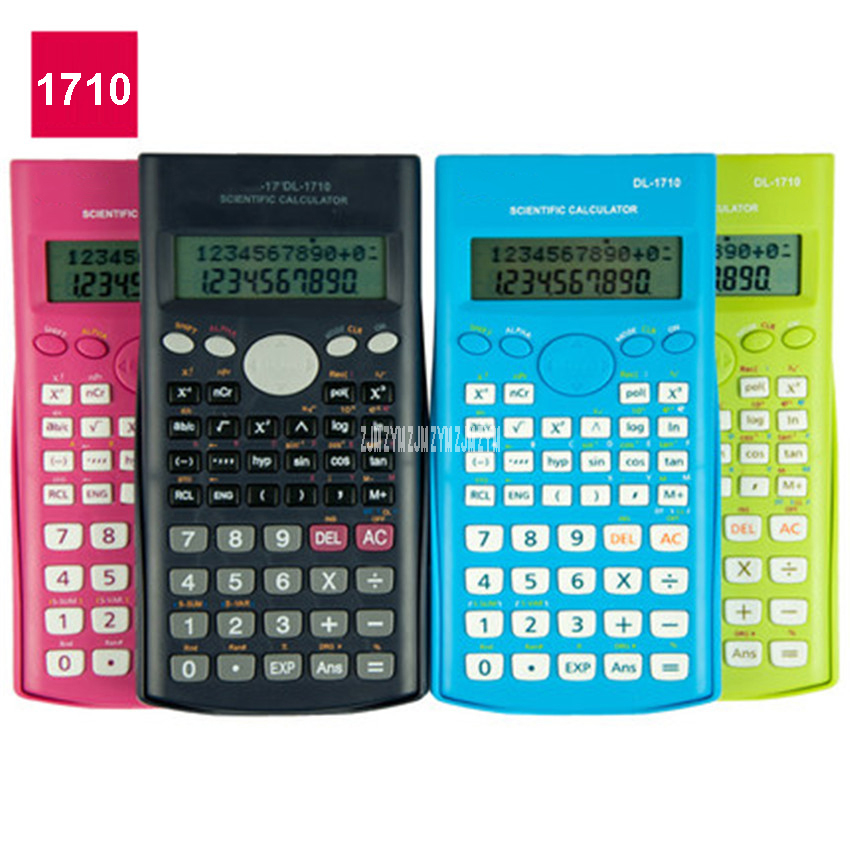 1710 Exam Science Calculator Cute Student Multifunction Function Calculator LED Screen material Green Pink Blue Black