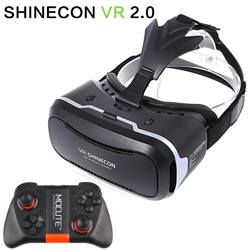 <font><b>Original</b></font> Shinecon <font><b>VR</b></font> <font><b>2.0</b></font> <font><b>II</b></font> Virtual Reality Glasses 3D <font><b>VR</b></font> <font><b>Box</b></font> <font><b>Google</b></font> <font><b>Cardboard</b></font> Rift Immersive for 4.7-5.7 smartphones