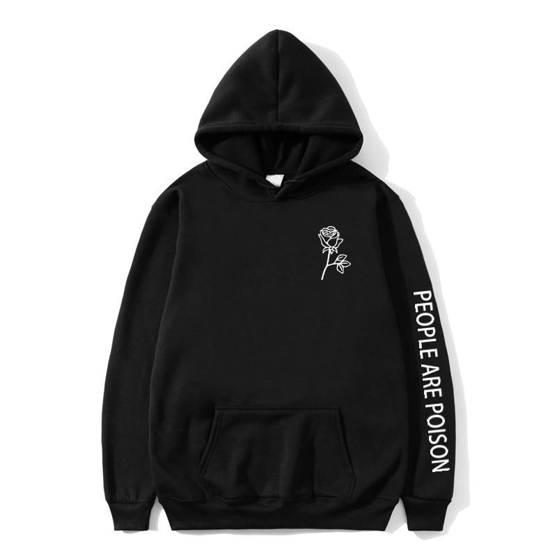 2019 People Are Poison Hoodies Mens Black Fashion Harajuku Sweatshirt Mujer Tumblr Inspired Aesthetic Men/Women Hooded Sweatshir