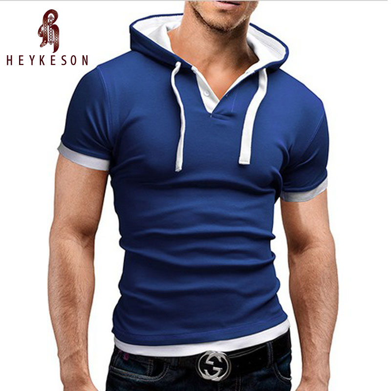 Brand 2018 Mens   Polo   Shirt Short-Sleeve Solid Poloshirt Men   Polo   Malse Slim Mens Clothing Camisas Hooded Camisa   Polo   Shirt 4XL