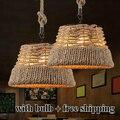 Corda Vintage lâmpada criativo lâmpada Industrial Edison lâmpada estilo americano para sala de estar