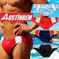 Frete grátis! O novo estilo da marca AUSTINBEM maiô de natação troncos masculinos dos homens nadar cuecas swimwear dos homens quentes