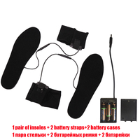 YGF Women Men Insoles Heated Plush Fur Electric Powered Inserts Warming Flexible Black Walking Heating Insoles