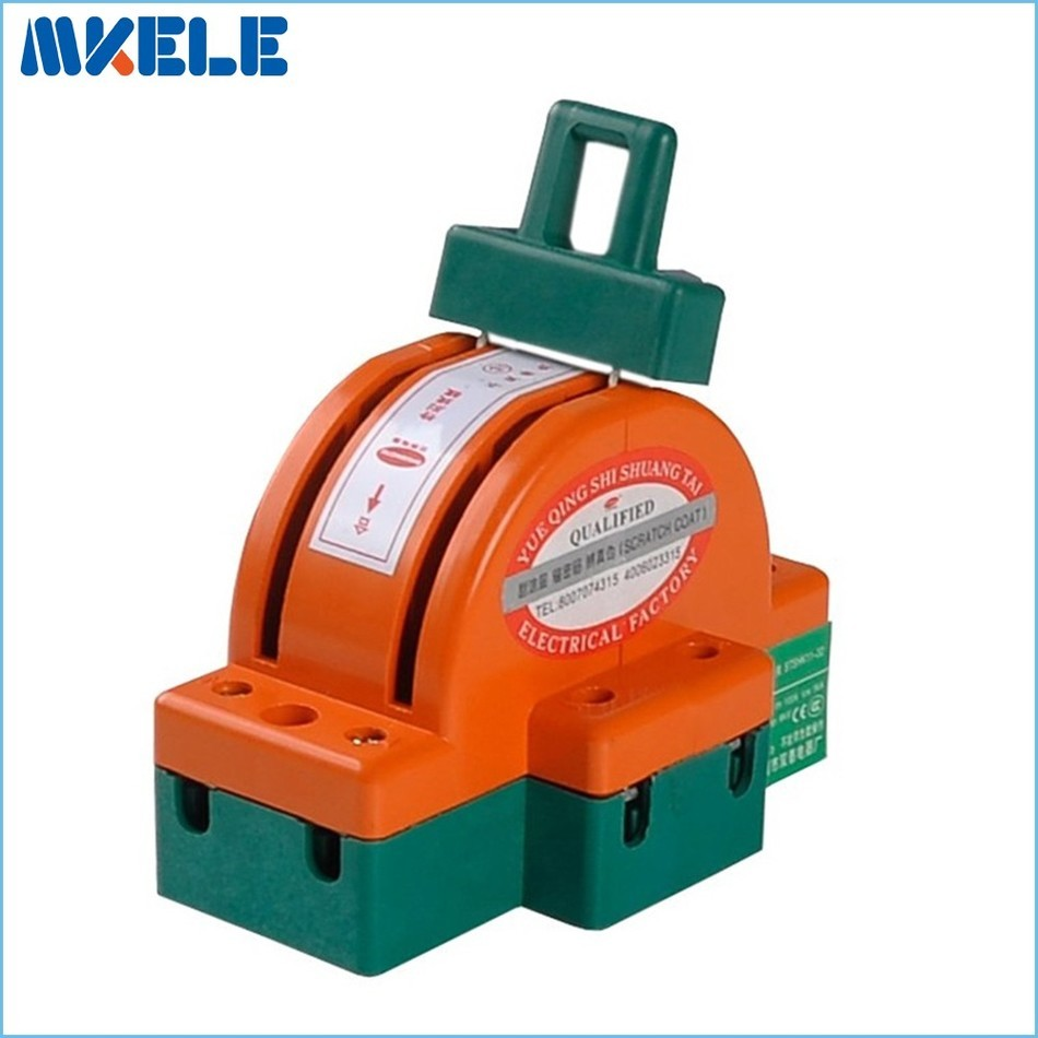 Wholesalec Heavy Duty  32A 2p Double Throw Knife Disconnect Switch Delivered Safety Blade Switches