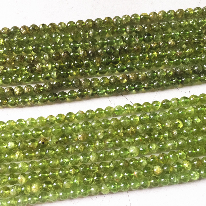 Natural Olivine Peridot Stone 100% Natural Color beads 39 cm long 4 mm 5 mm Bead Great For Diy Making Jewelry(China)