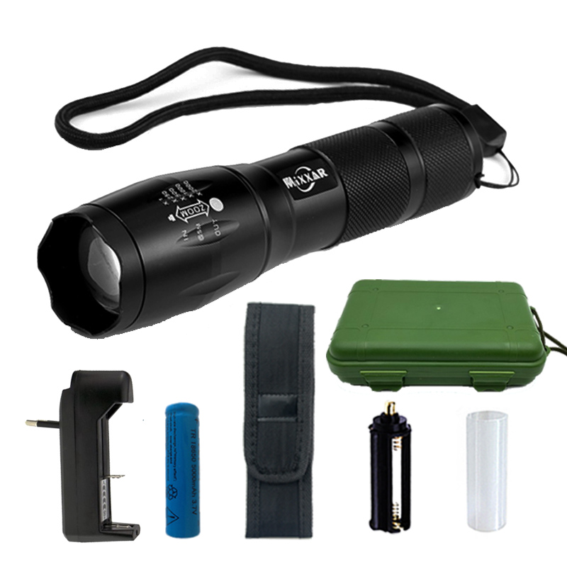 CREE XML-T6 8000LM LED Flashlight 5 Mode Zoomable LED Torch Waterproof Torch Lights Bike Light For AAA or 18650 Battery 8200 lumens flashlight 5 mode cree xm l t6 led flashlight zoomable focus torch by 1 18650 battery or 3 aaa battery