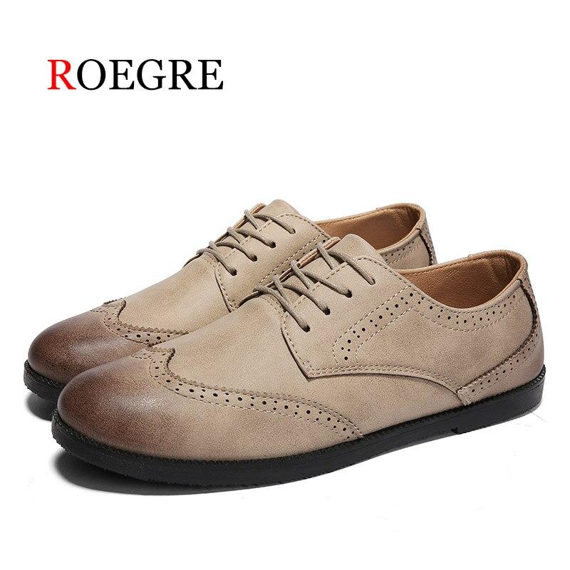 ⊰Roegre 2018 Cuero auténtico calzado para hombre lujo Derby Encaje ...