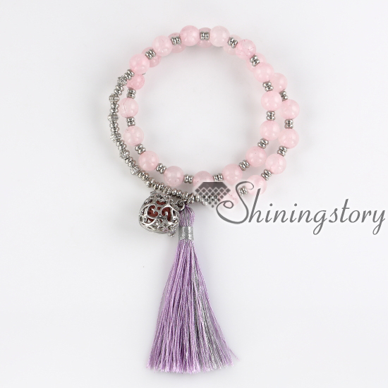 tassel bracelet prayer beads bracelet oil diffuser bracelet jewelry lockets  prayer beads bracelet spiritual healing jewelry-in Charm Bracelets from