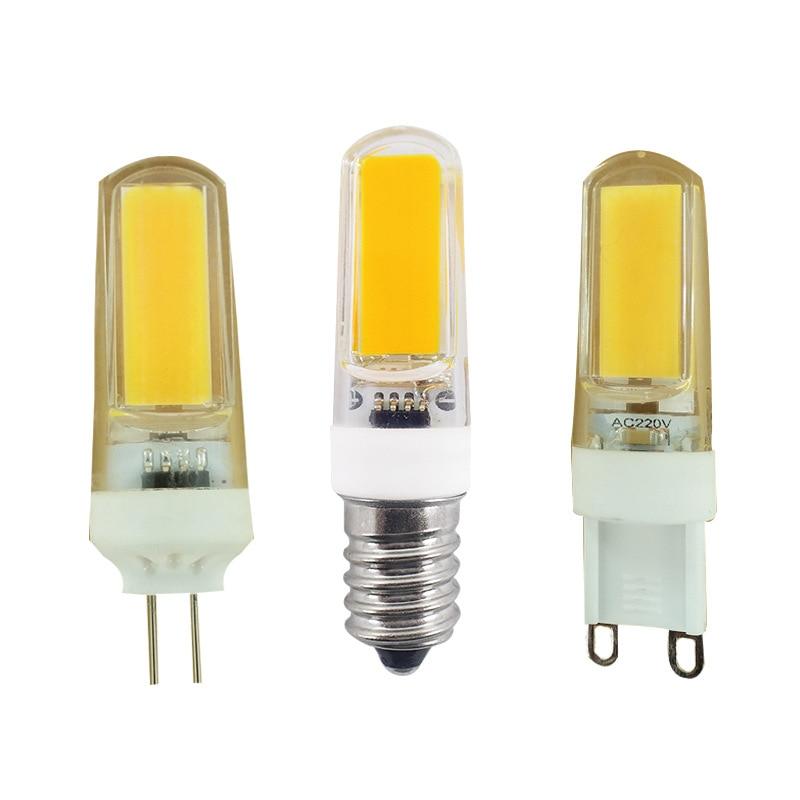 LED G4 G9 E14 Lamp Bulb 2609 COB AC 220V 3W LED Lighting Lights replace Halogen Spotlight Chandelier Light 360 Beam Angle