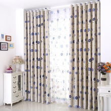 vorhang blackout 3d curtains sevenleaf tenda window Curtains for living room bedding