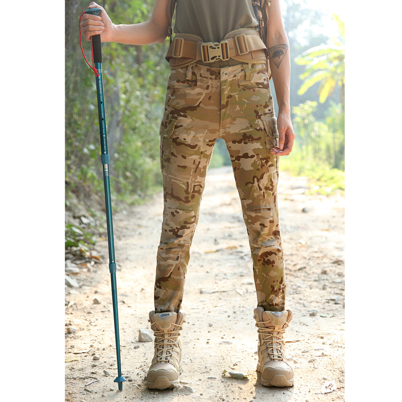 2017 New Multicam Arid camouflage Woman Tactical long pants MCA woman tactical pants 65/35 P/C Skinny pants Camo Woman pants