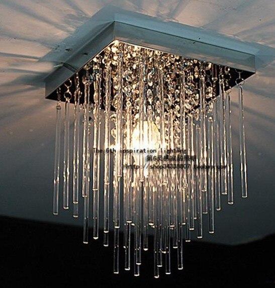 Nouveau 20 cm plafonnier à LED en cristal luminaire pluie rideau lampe éclairage Prizm