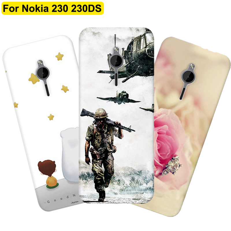 2.8inch For <font><b>Nokia</b></font> 230 <font><b>230DS</b></font> case cover retro cartoon soft phone cases For <font><b>Nokia</b></font> 230 DS RM-1172 case cover shell back fundas image