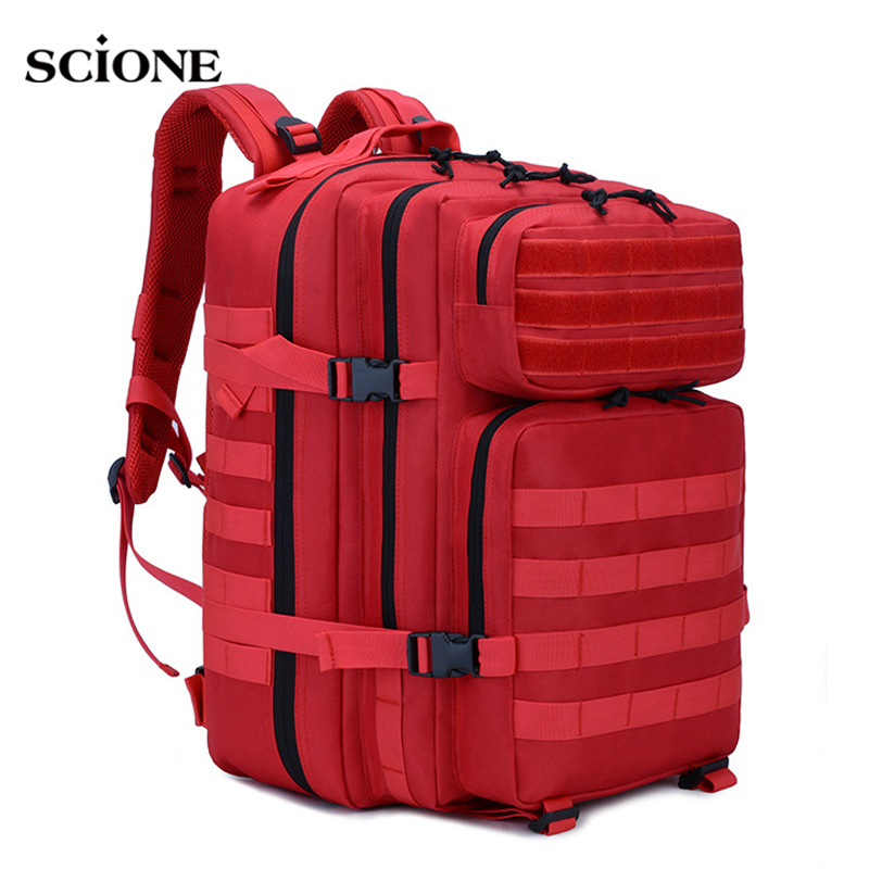 45L Large Capacity Military Backpack Tactical Rucksack Men Camping Bag For Travel Mountaineering Hiking Mochila Blaso XA809WA