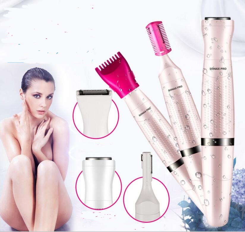 All in One trimmer Electric woman grooming kit clipper shaver bikini body face underarm  ...
