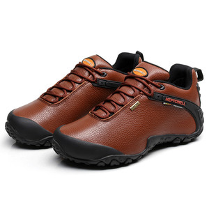Image 2 - High Quality Unisex Hiking Shoes Autumn Winter genuine leather Outdoor Mens women Sport Trekking Mountain Athletic Shoes 224 5
