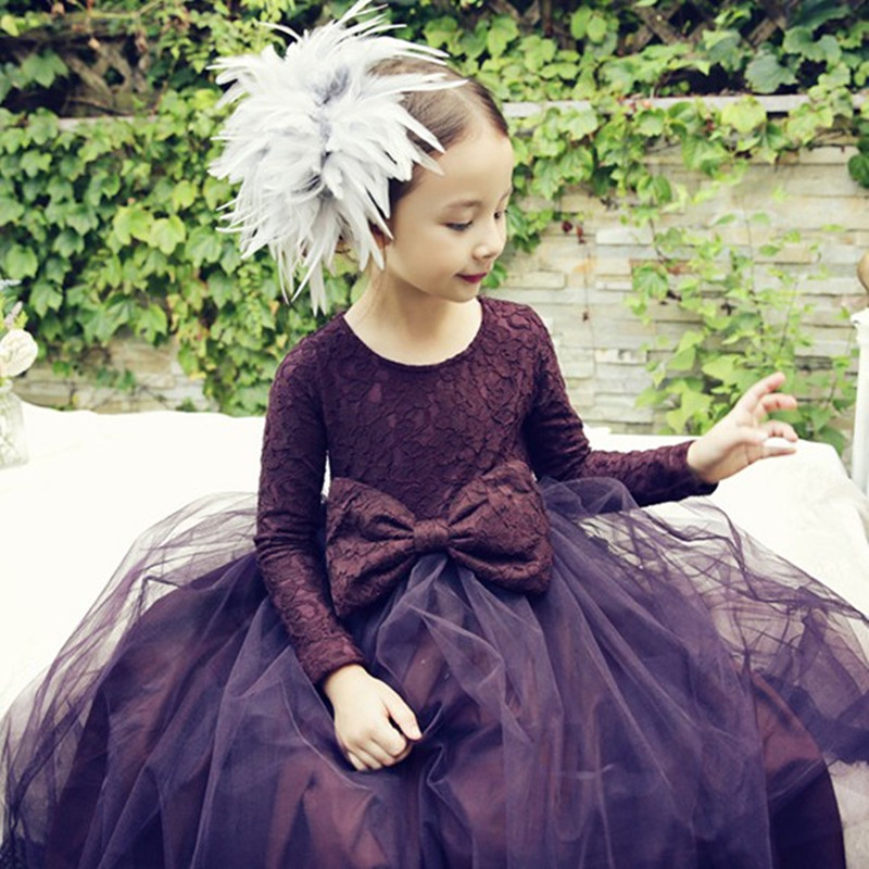 New Girls Princess Dresses Girl with Velvet Dress Children's Princess Dress Veil Long Gown Clothes for Girl Purple and Red free shipping new red hot chinese style costume baby kid child girl cheongsam dress qipao ball gown princess girl veil dress
