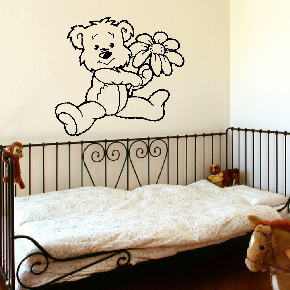 D303 Large Nursery Baby Teddy Bear Wall Mural Giant