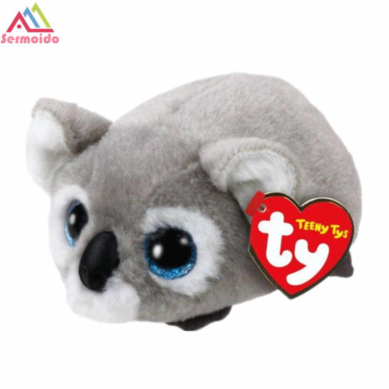 8559bbc0716 ... TY Beanie Baby Stuffed   Plush Animals Black Cat Fox Unicorn Dog  Siamese Cat Doll TSUM