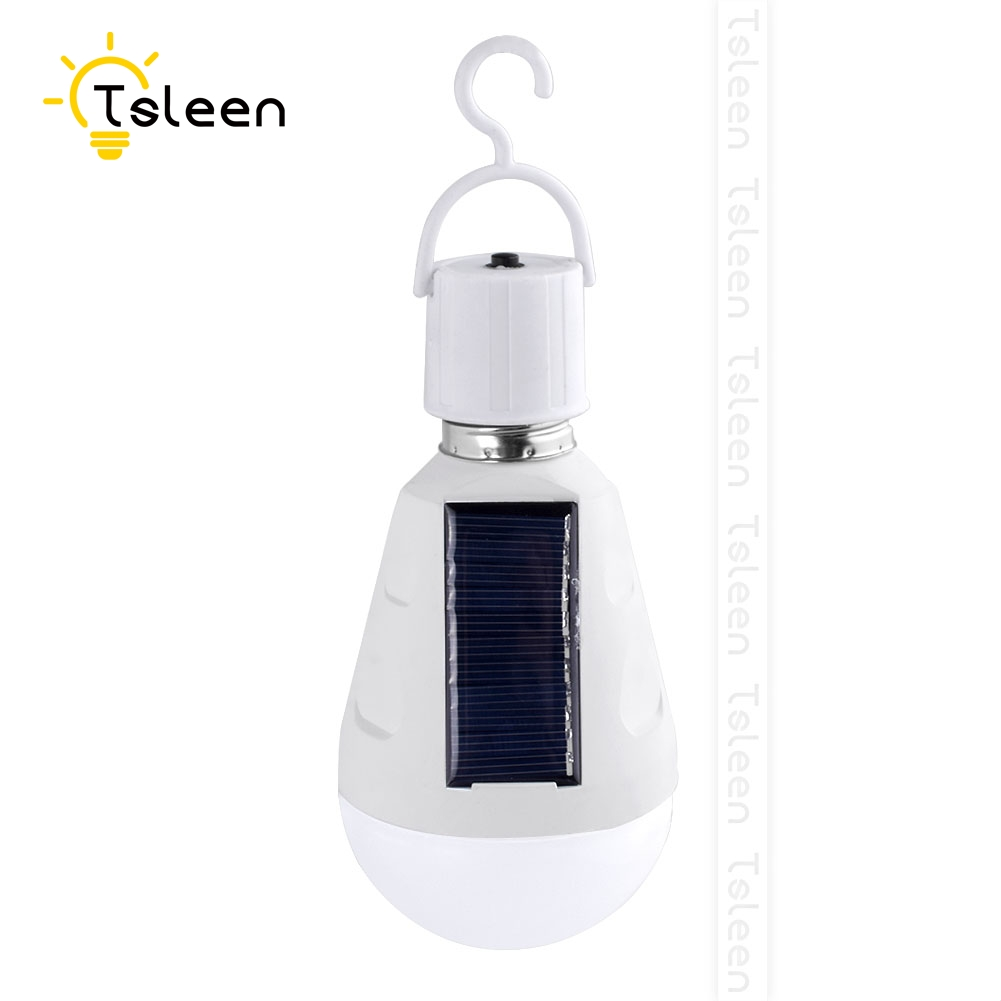 Portable Intelligent 7W 12W LED Solar Lamp AC85-265 Bombillas LED E27 Rechargeable Solar Bulb IP65 Camping Emergency lighting