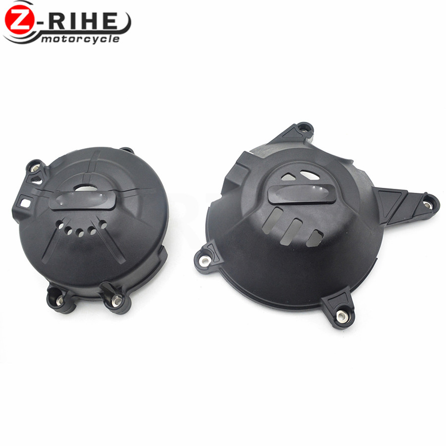 For 1SET 2018 New CNC Aluminum&ABS Motorcycle Engine Protective Cover Accessories For Kawasaki Ninja300 Ninja 300
