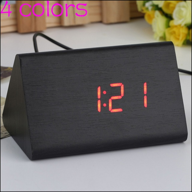 By DHL Or EMS 30 Pcs Decorative Table Clocks Control Sensing Alarm Temp  Electronic LED Clock