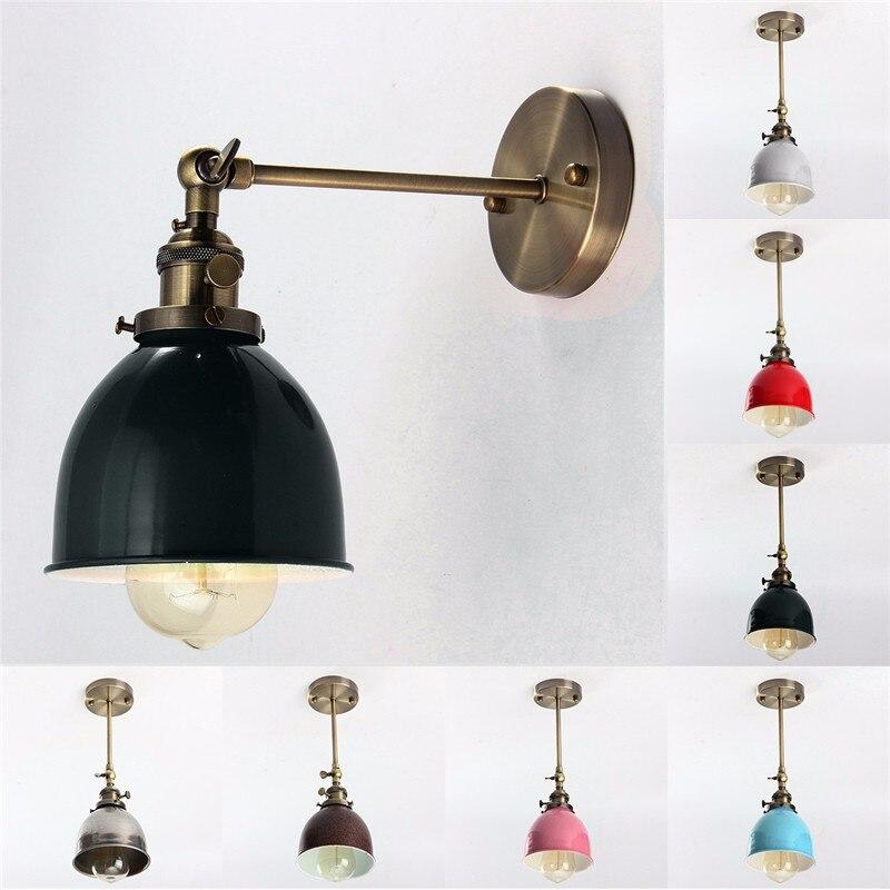 E27 Vintage Wall Lamp 110-240V 60W Light Lamp Antique Indestrial Bowl Shape Loft Wall Light Ceiling Light Pendant Fixture