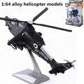 1: 64 de aleación de modelos de helicópteros, alta simulación militar modelo, avión de juguete, de metal funde, tire hacia atrás de moviles y musicales, envío libre