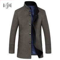 High Quality Winter Wool Coat Men Slim Fit Jacket Mens Fashion Outerwear Warm Male Casual Jackets