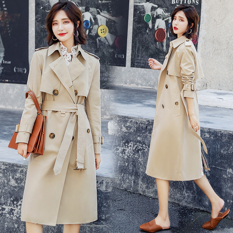 Long Trench Coat Femme 2019 Spring Autumn New Korean Loose A-line Trench Coat Women Outdoor Warm Long Windbreaker With Belt
