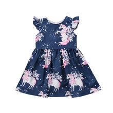 Summer Infantr Newborn Kid Girl Flower horse printed Casual Dresses One Piece Clothing Cute Princess
