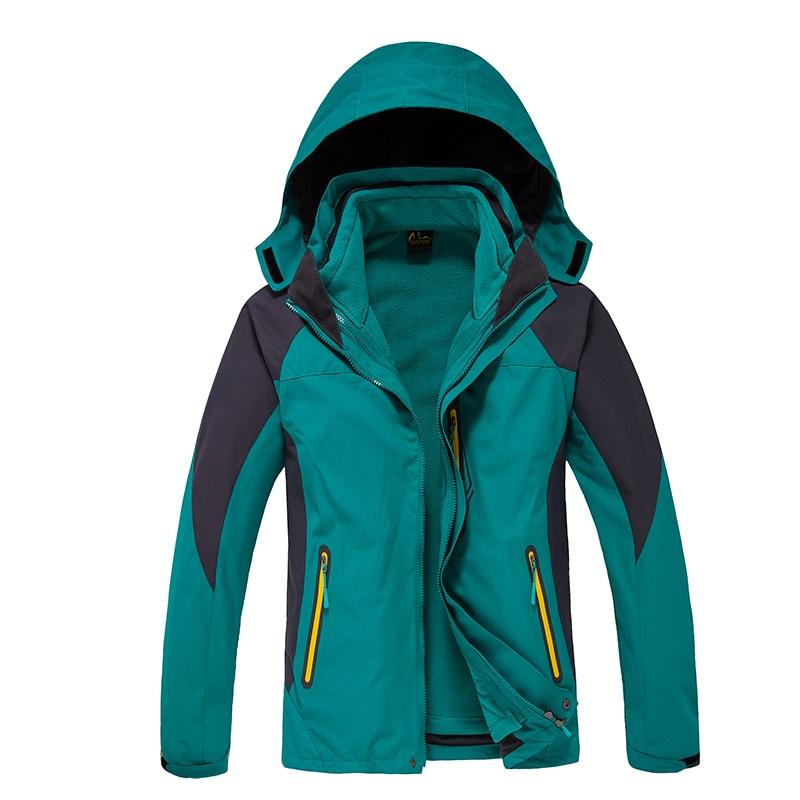 2016 Winter Mens Windbreaker Jaqueta Masculina Sports Hiking Outdoor Waterproof Jacket Men Camping 3in1 Coat With Fleece Lining колонка jbl go 2 coral orange