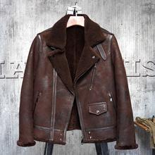 Bomber Flight Jacket B3 Men s Shearling Coat Men s Fur Coat