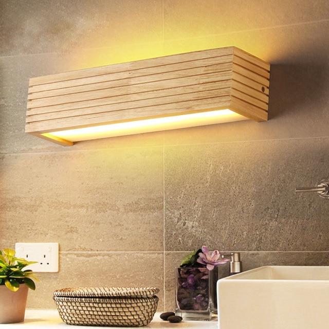 DX Moderne Holz Wand Leuchten Badezimmer Spiegel lampe Flur Wandlamp ...