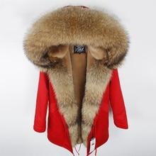 Для женщин Зимняя парка с меховым капюшоном зимняя куртка женские парки натуральной пальто с мехом для женщин толстые мягкие внутри Abrigos де Piel Mujer
