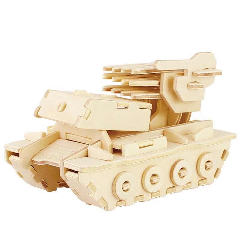 Robud Montagem Carro e Modelo de Foguete De Madeira 3D Puzzles Passatempos Diecasts & Toy Vehicles Brinquedos Clássicos Presente para Crianças H5