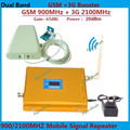 LCD Display Dual Band GSM 3G Cellular Signal Booster GSM 900mhz 3G UMTS 2100mhz Mobile Amplifier WCDMA 2100 Repeater Extender