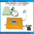 Pantalla LCD de Doble Banda GSM 3G Celular Amplificador de Señal GSM 900 mhz 3G UMTS 2100 mhz Móvil Amplificador WCDMA 2100 Repetidor