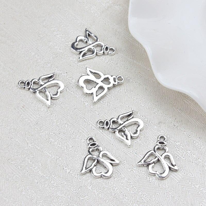 20pcs16.5*19.5mm Antique Sliver Zinc Alloy Fashion Charms Connectors Jewelry
