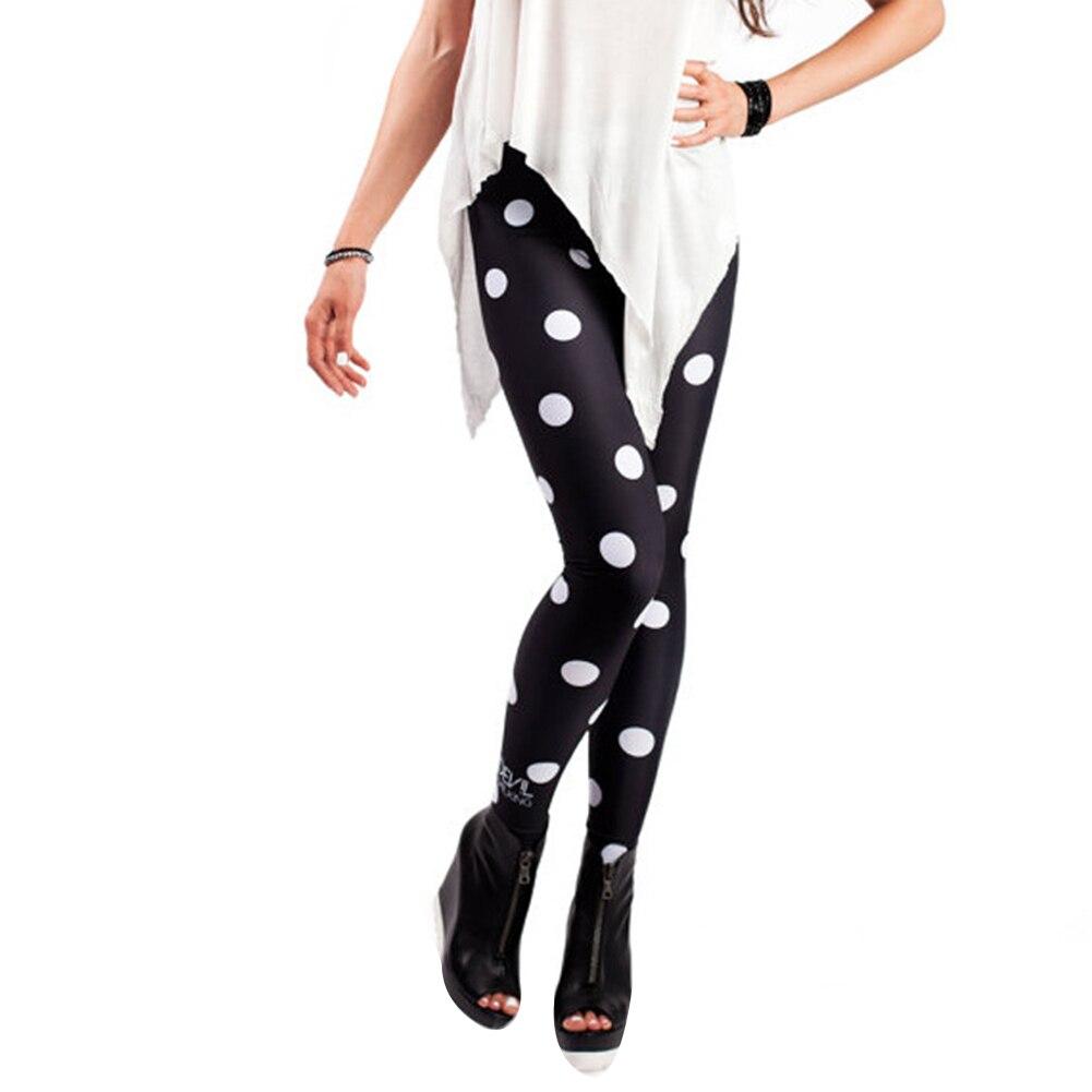 Sexy Women Polka Dot Push Up   Leggings   Skinny Pencil Pants Long Trousers 2019